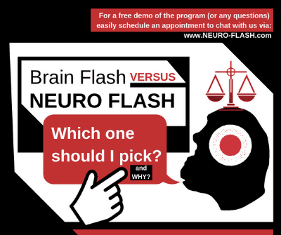 Image of NEURO FLASH logo displaying Idea Exploration Service regarding which outcome should be picked