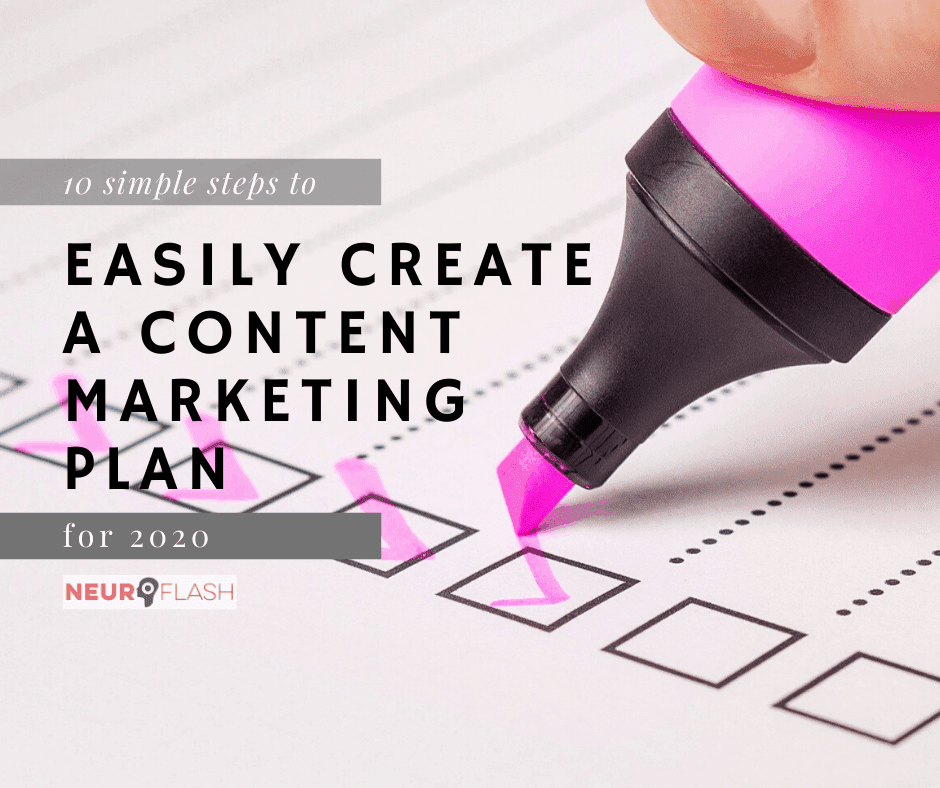 EASILY create a content marketing plan